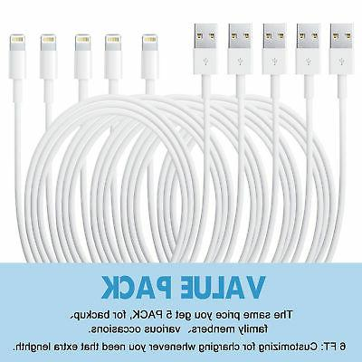 5 Pack 6 Usb Charger For Apple Iphone