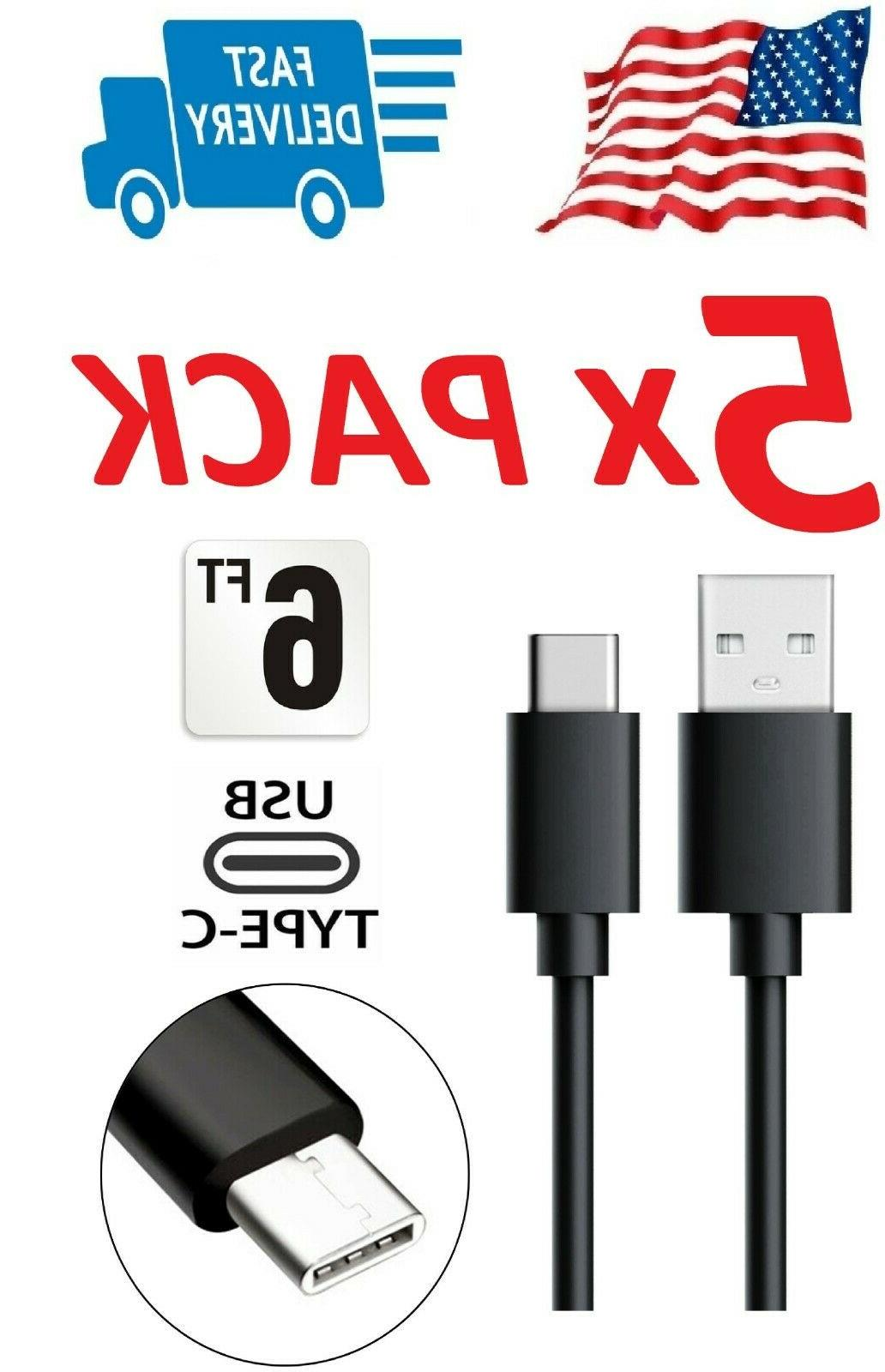 5x 6 foot extra long charging cable