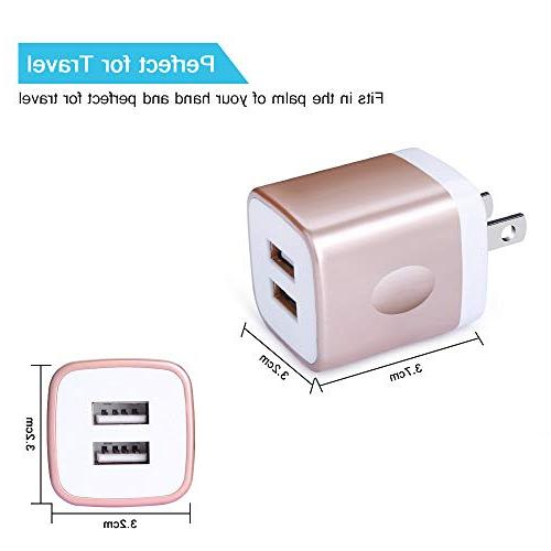 with Charger, Kakaly 2.1A/5V USB Charger Adapter Block S9/S9+/S8/S8+/Note 8, LG
