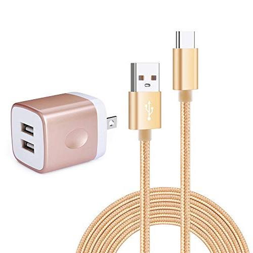 6ft usb type c cable with adaptive