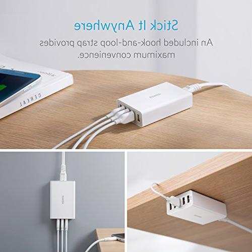 Anker 5-Port USB Wall Charger, PowerPort for iPad S9/S8/Plus/Edge, Nexus, HTC