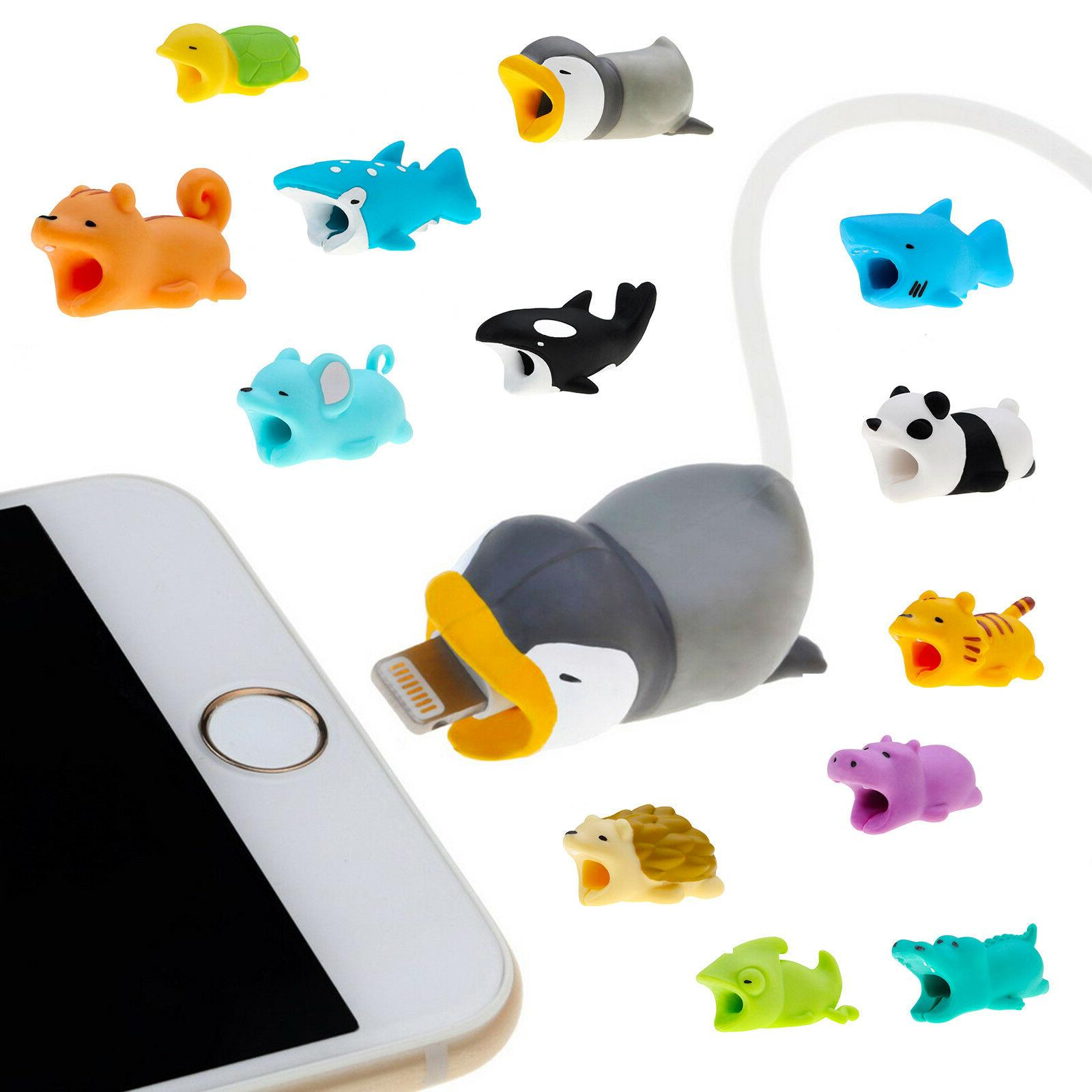 Animal Bites Cable Protector Accessory for iPhone Smartphone