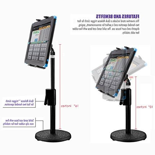 ChargerCity 360° Rotate Tablet Holder Podium Stand Mount
