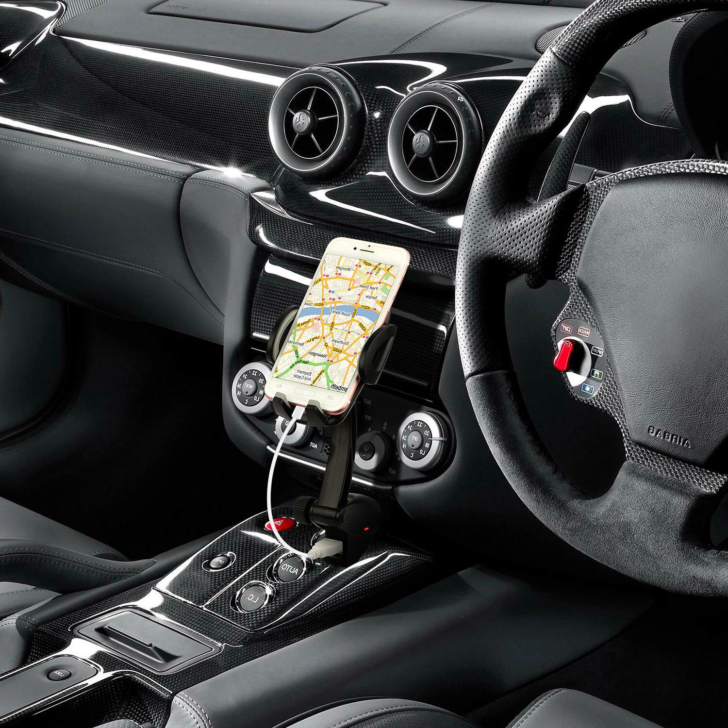 Dual Car Holder Mount With Lighter iPhone