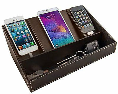 Faux Leather Charging Station