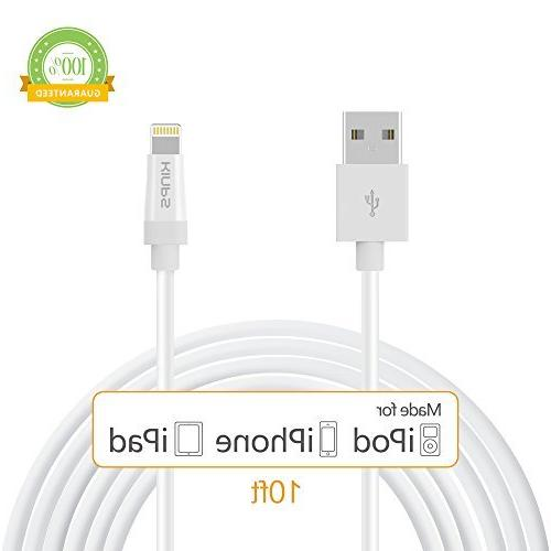 Kinps Apple MFi Certified Lightning to USB Cable 10ft/3m iPh