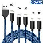 TNSO  iPhone Charger Lightning Cable USB Charger Cord Nylon
