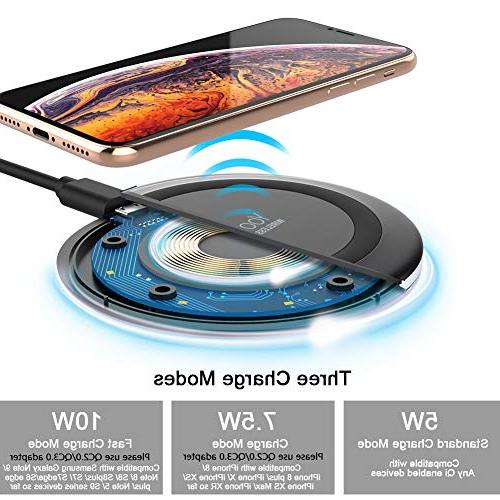 Yootech 7.5W Charging with Xs Plus,10W Compatible Galaxy 9/S9/S9 Plus/Note Qi-Enabled