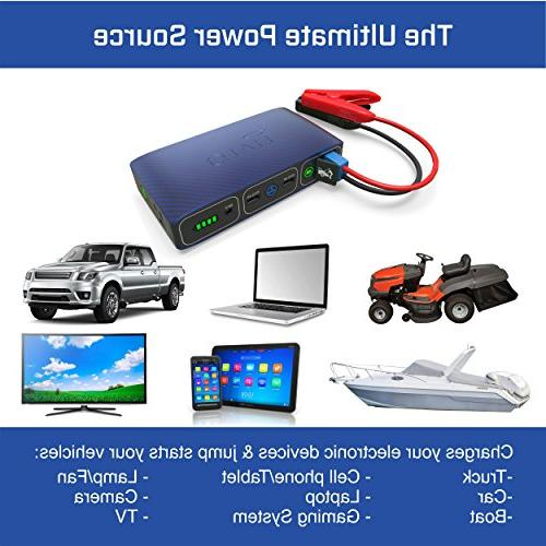 Halo Bolt Portable Phone Laptop Car Starter with Charger Rose