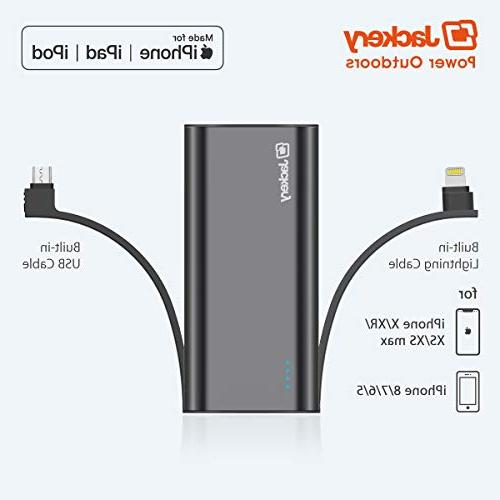 Portable 6000 mAh bank with Lightning Cable Charger Battery Pack, TWICE as Original iPhone Charger