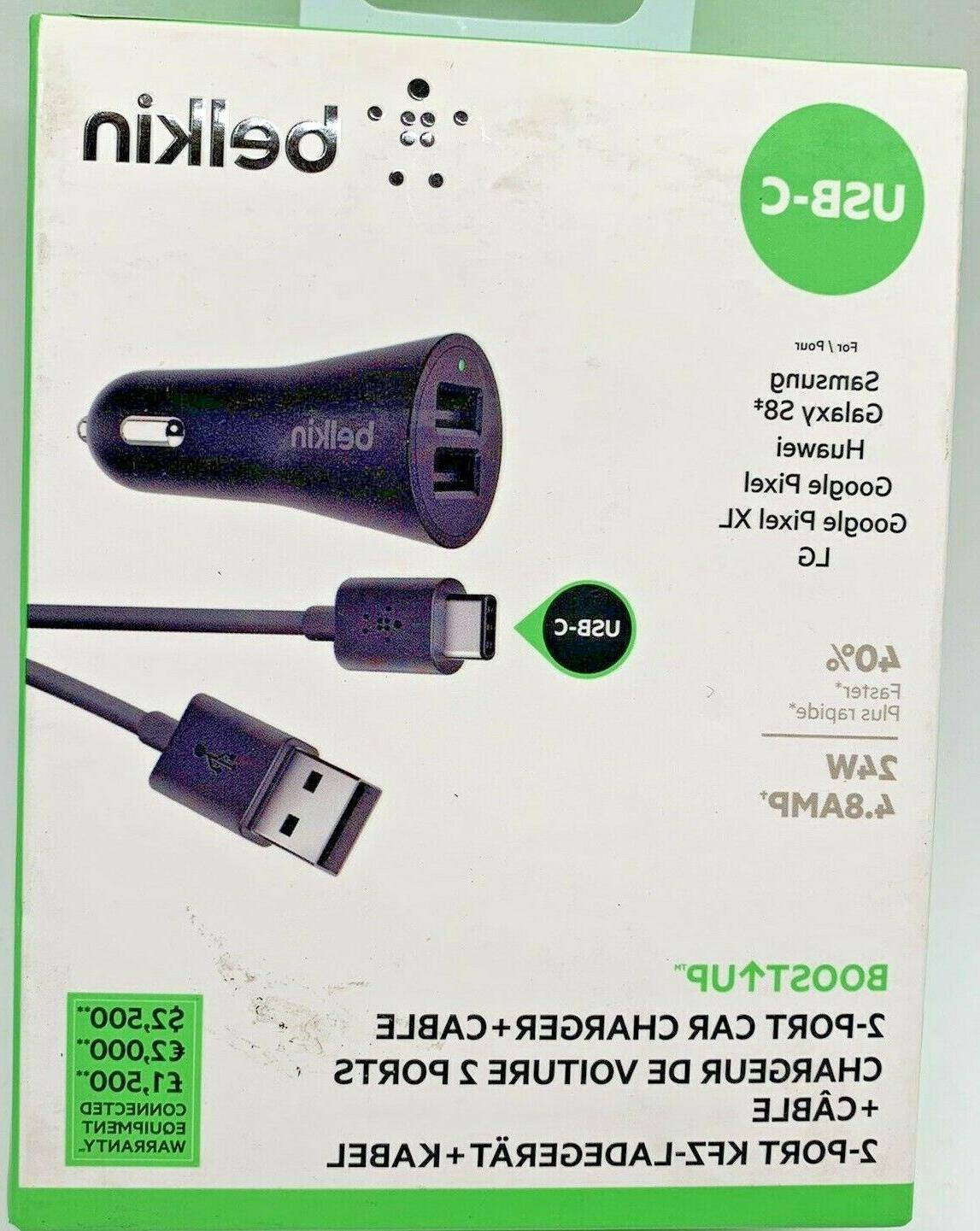 boost up 2 port car charger cable