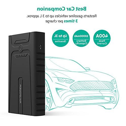 RAVPower Car 10000mAh Peak Portable Car Charger with Jumper for to Gasoline Battery Pack