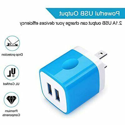 Charger Block, Plug, 5Pack Quick Port IPhone