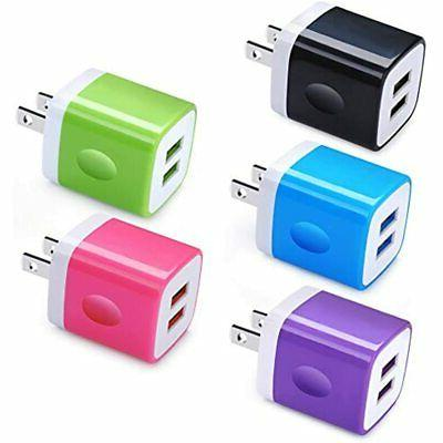 charger block charging plug 5pack 2 1a