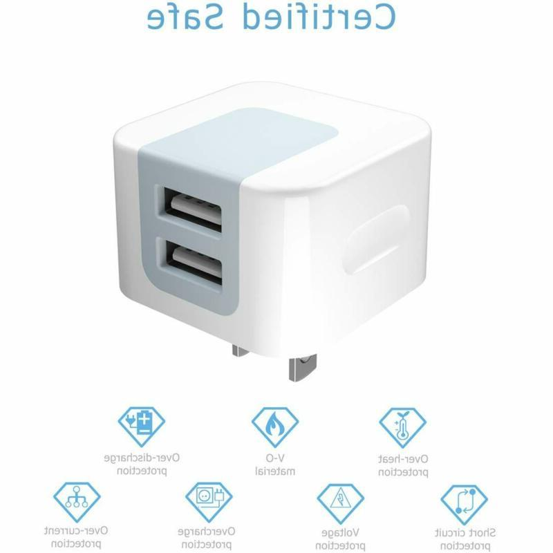 Chargers,Dodoli 2.4A Dual Usb Charger Power Cube Bo
