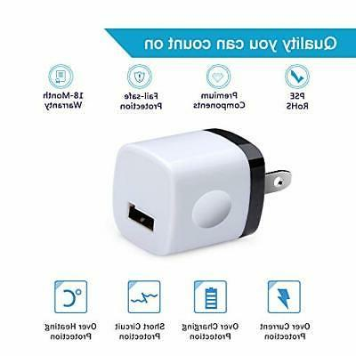 Fast Block USB Charger Cube Samsung 5 Pack