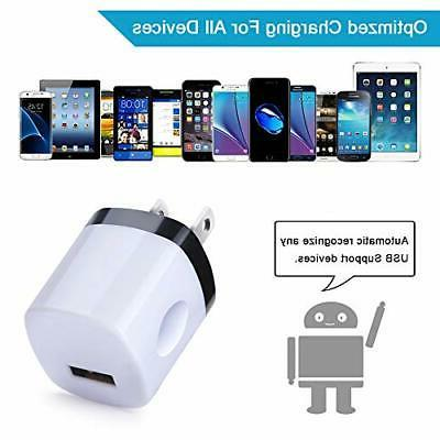 Fast Charging USB Wall Lot Cube 5 Pack