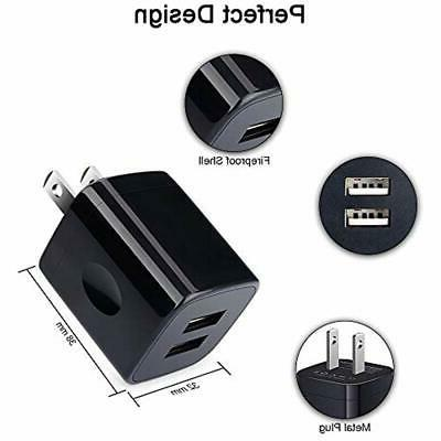Charging Wall 2-Pack 2.1A Dual Universal Fast