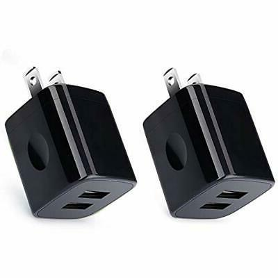 charging block usb wall charger 2 pack