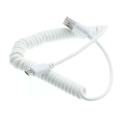 coiled micro usb cable fast charger power