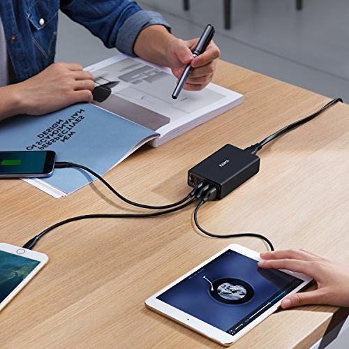 Anker USB Charger Technology + USB for Samsung HTC, Motorola and