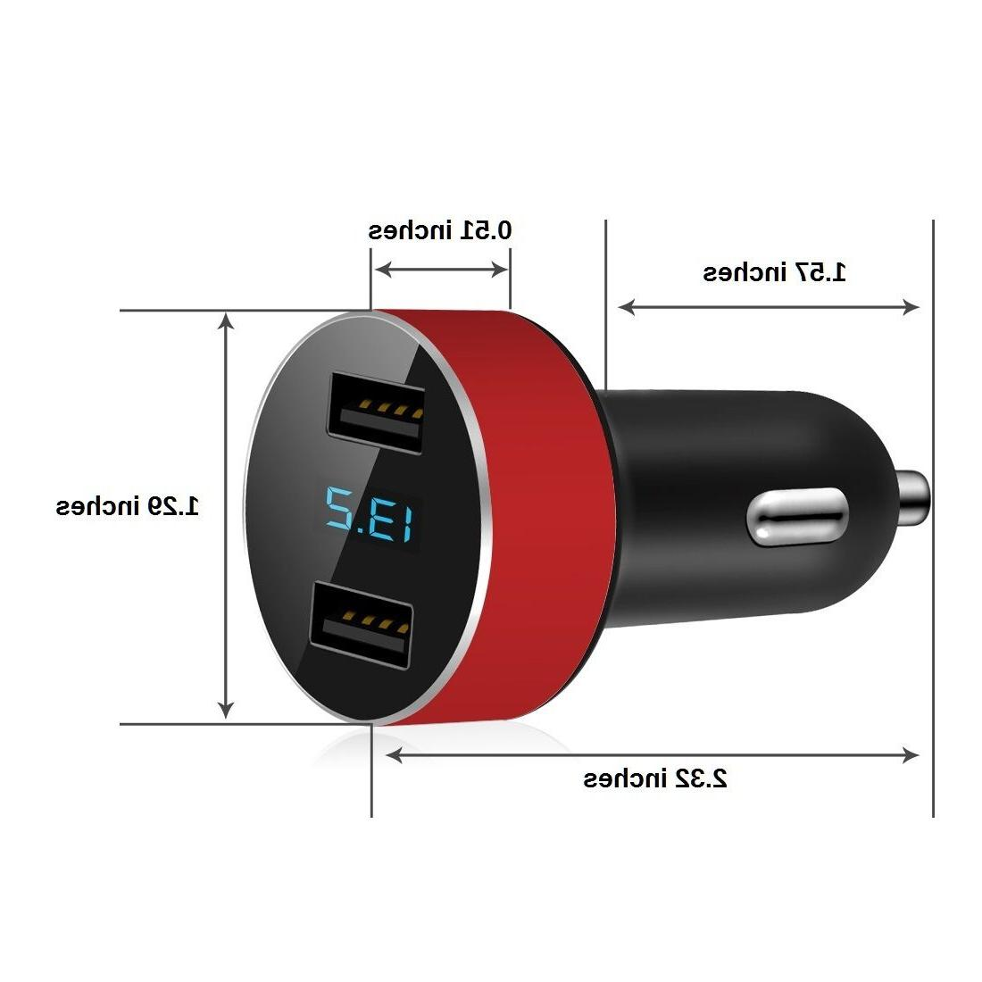 Dual Car Charger Adapter LED Fast Charging Cell Universal
