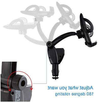 Dual USB Car Holder Mount Lighter Chargers For CellPhone