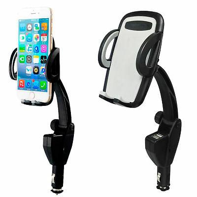 Dual USB Charger Holder Mount Lighter