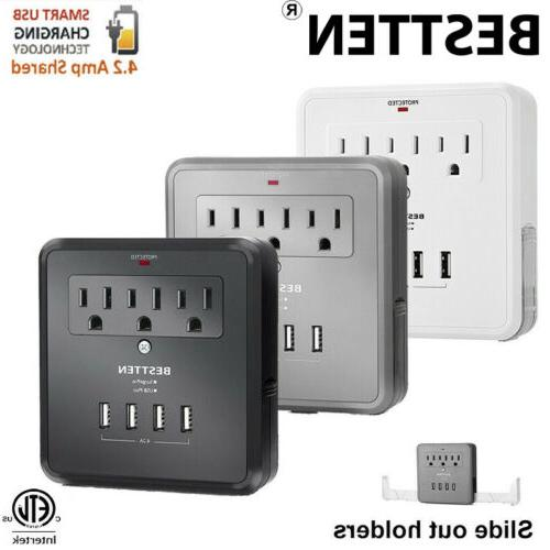 electrical multi 3 outlet 3 4 usb