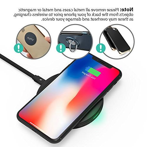 Wireless 10W Wireless Pad Charge, Charge Compatible S8+ S7 S7 & for 8