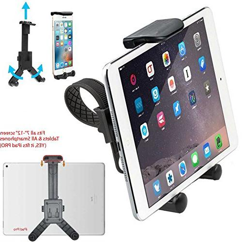 ChargerCity Mount for Treadmill Exercise Bike w/Tablet & for Apple iPad Mini Air iPhone XS MAX X Plus Samsung S9 S8