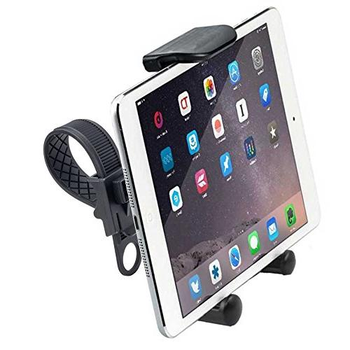ChargerCity HDX2 Strap-Lock Mount for InDoor Bicycle Exercise Spin Bike w/Tablet Air iPhone XS MAX Plus Samsung Galaxy S9