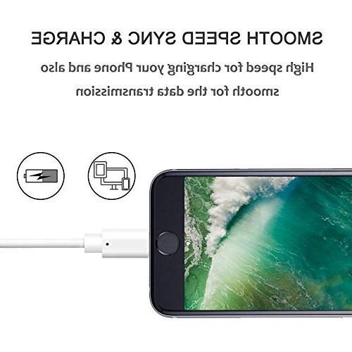 Phone Cable, Quntis 3Pack 6FT USB Fast Charger with XS Max 8 7 6S Plus 5 SE White