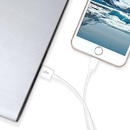 iPhone Charger, MFi Charging Cable, Wall Power Adapter, USB Data Charge Sync Cable with X/8 Plus/6s/6 Plus/5/5s/5c/XS/XR/XS