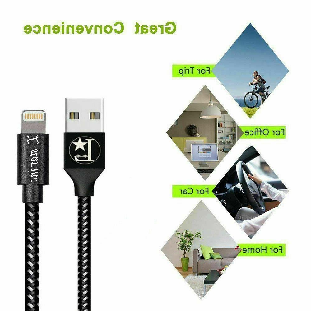 For iPhone X XR XS iPhone 11 8 7 Lightning Charger Cable Data Sync Cord