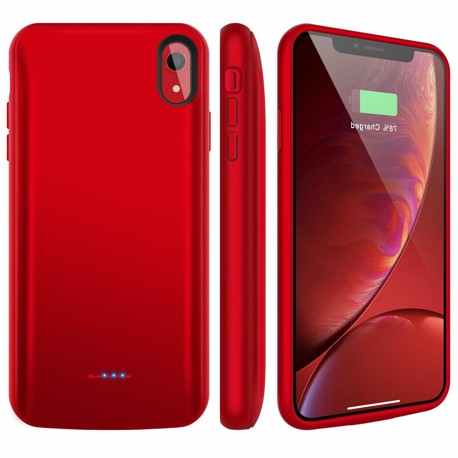 For iPhone X XR XS Max External Charger Bank Case Charging Cover