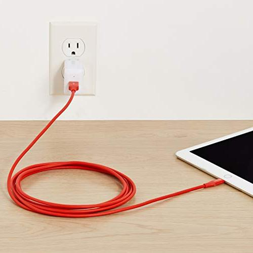 AmazonBasics A - Charger - Red, 10-Foot