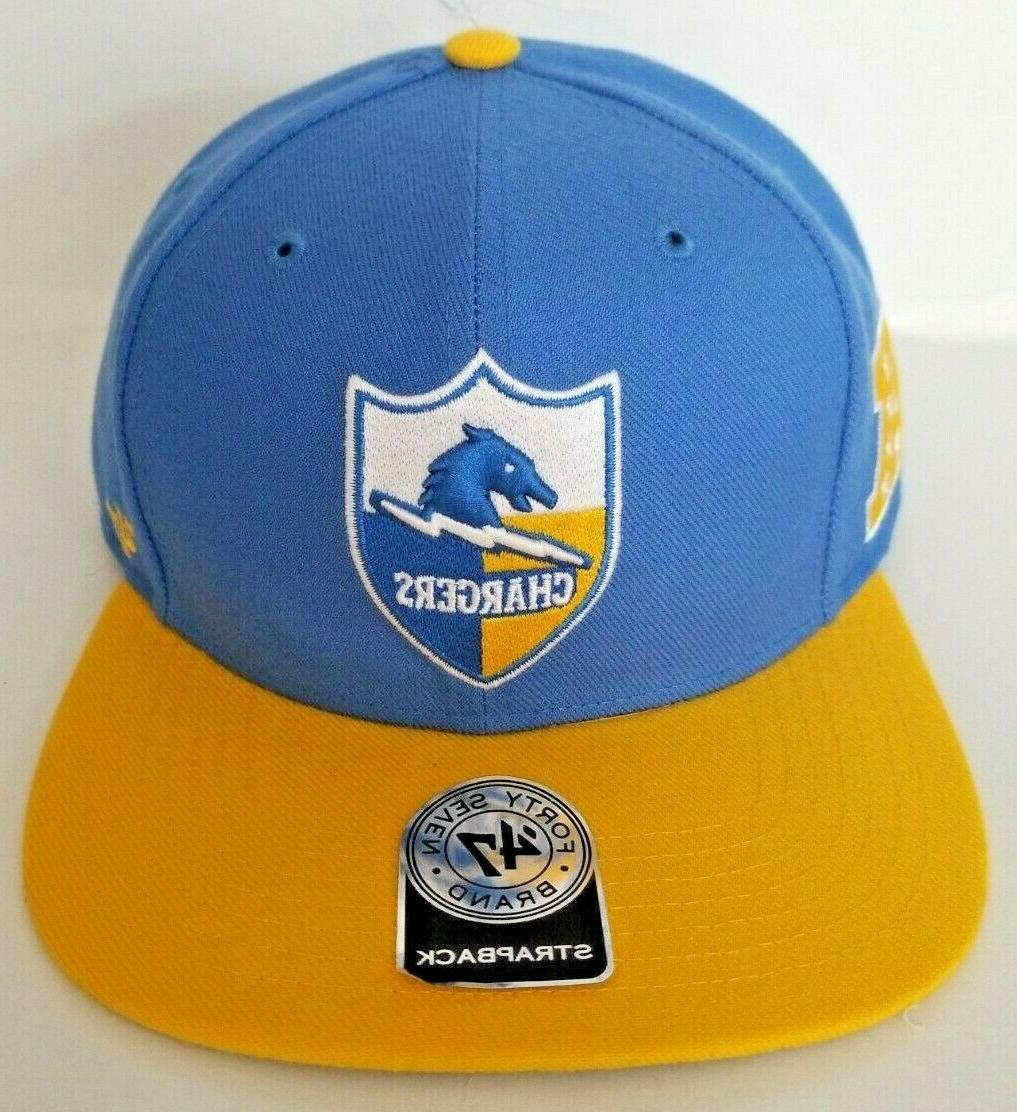 los angeles chargers historic omaha strapback hat