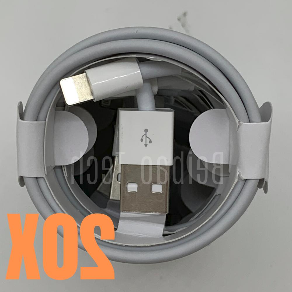 Lot 20 3Ft 6Ft USB iPhone 11 Lightning Charger Charging Cable