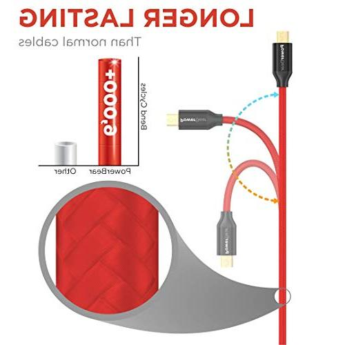 PowerBear Micro Cable 6ft High Strength Nylon Red