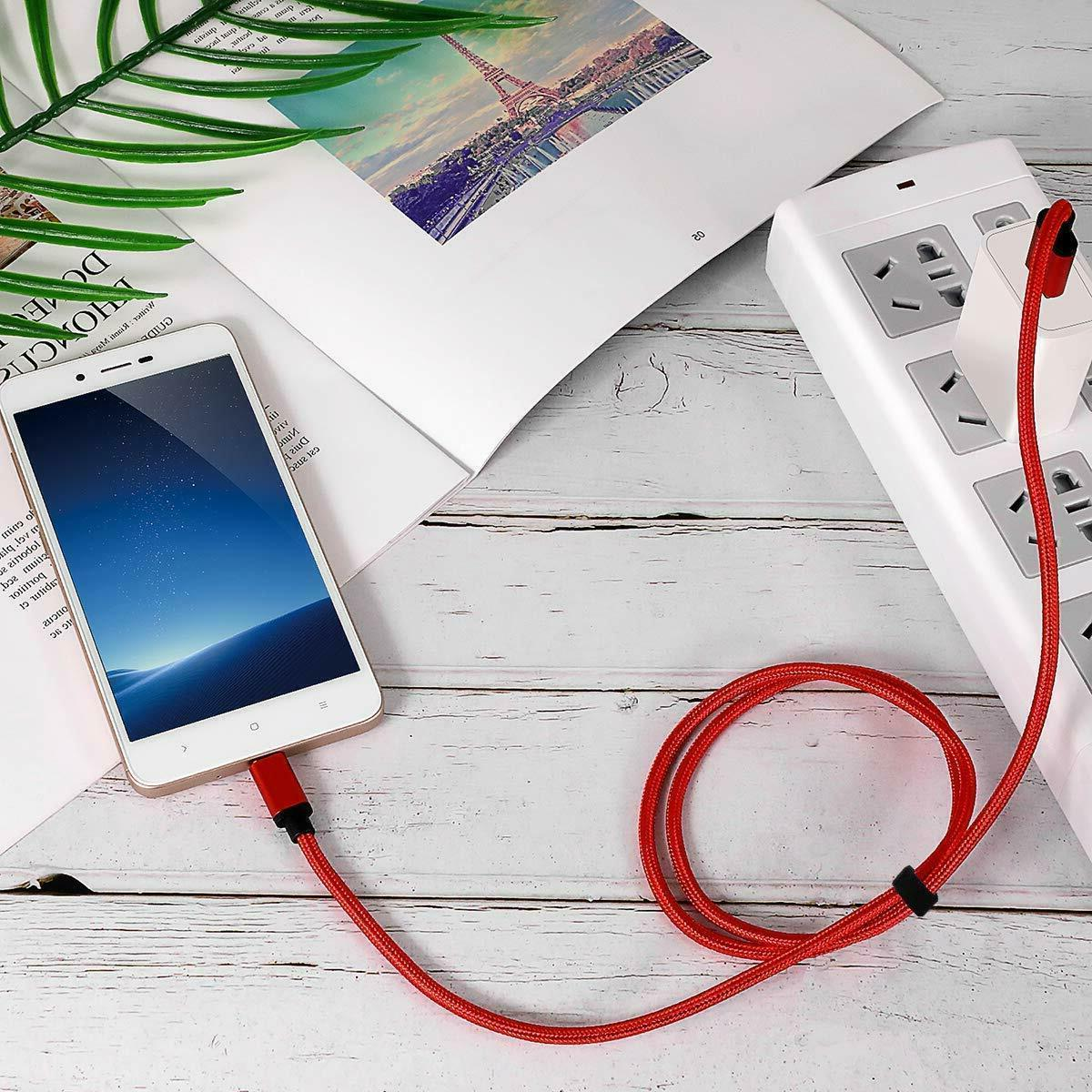 Braided USB C Type-C Fast Charging Charger Cord 3/6/10FT LONG US