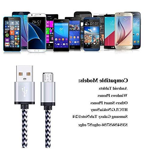 Micro 2-Pack 6FT Micro USB Cable with 3.4A Rapid Dual Port USB 1Amp Charging Compatible Galaxy S7 Note 5,