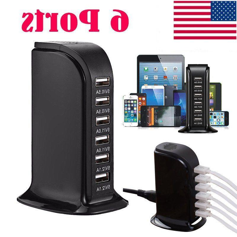 multiple 6 ports wall charger usb charging