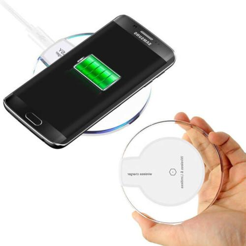 New Wireless Charger Clear for iPhone Samsung,Moto Phones