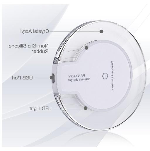 New Qi Wireless Charger Clear for iPhone Phones