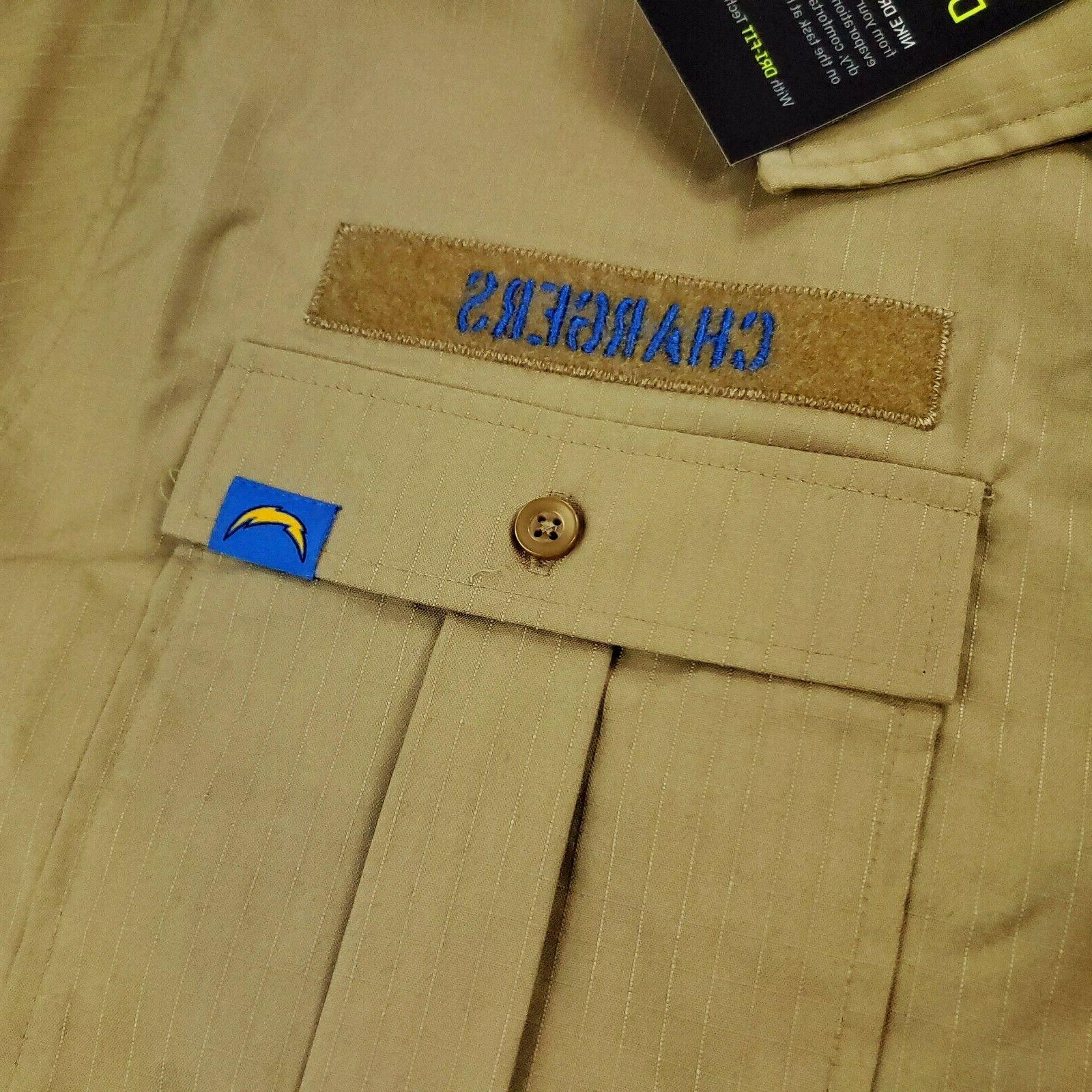 Nike Apparel Service Los Angeles Chargers Button Down