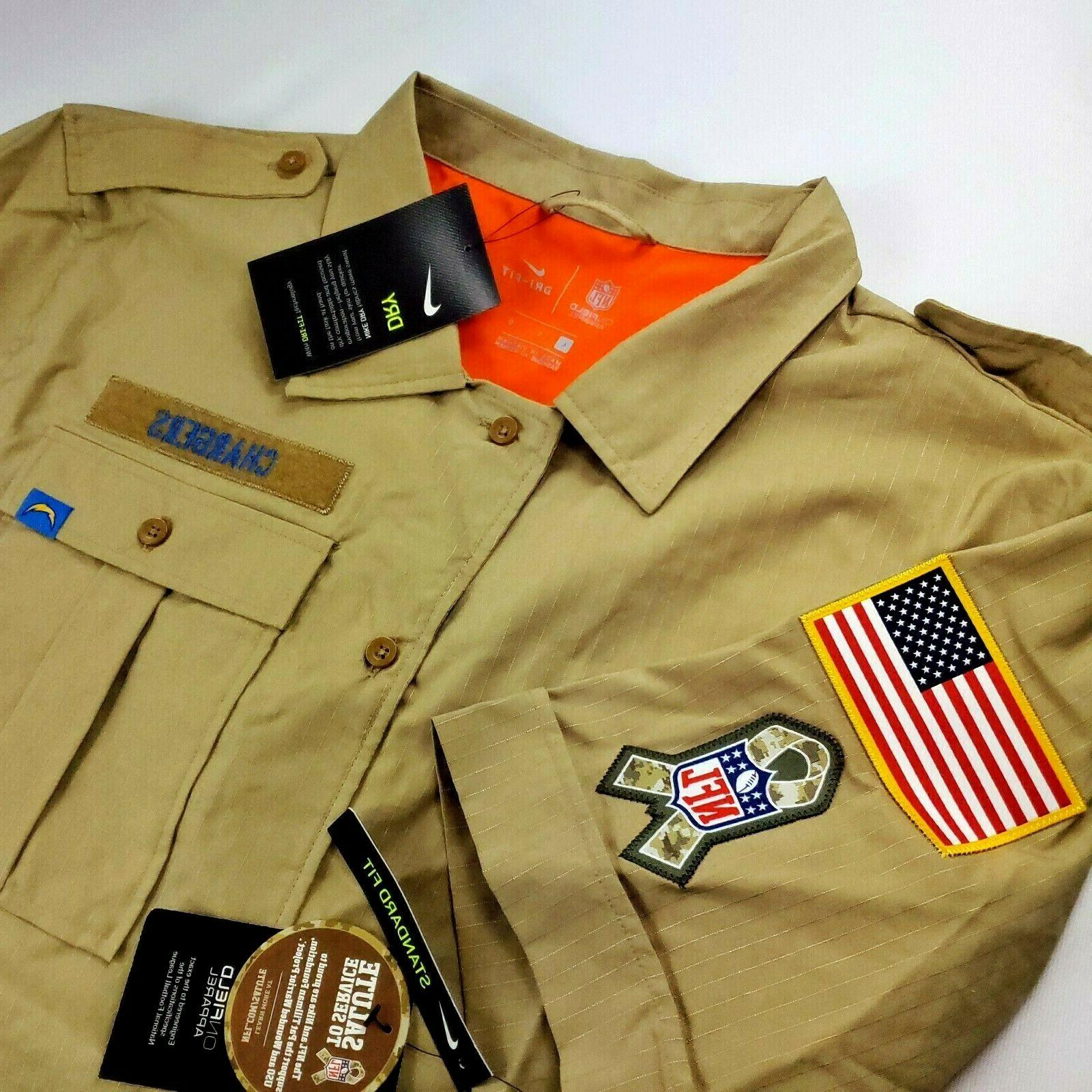 onfield apparel salute service los angeles chargers