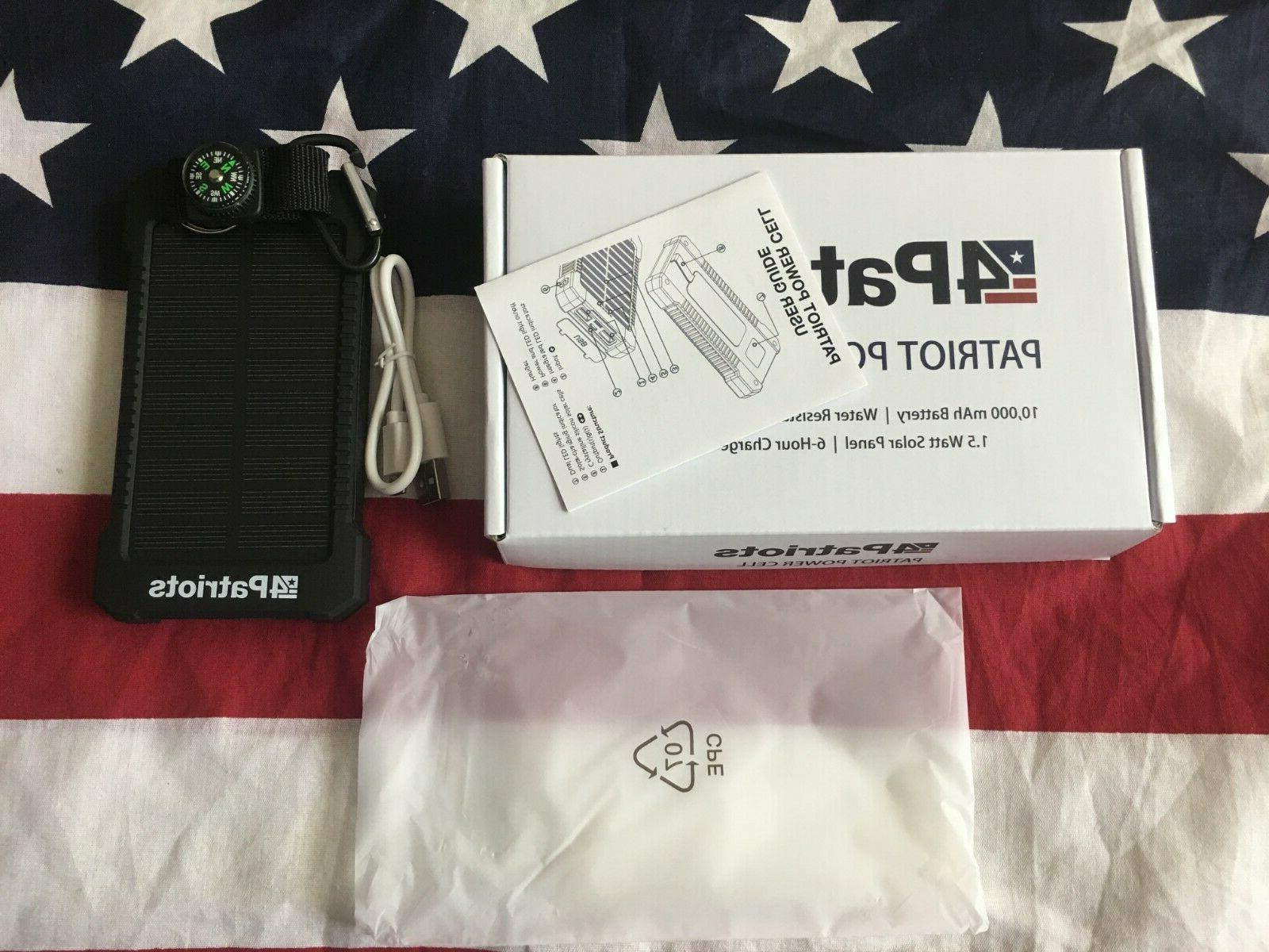 Original Power USB Solar Charger 4Patriots Brand 2020 NEW IN BOX