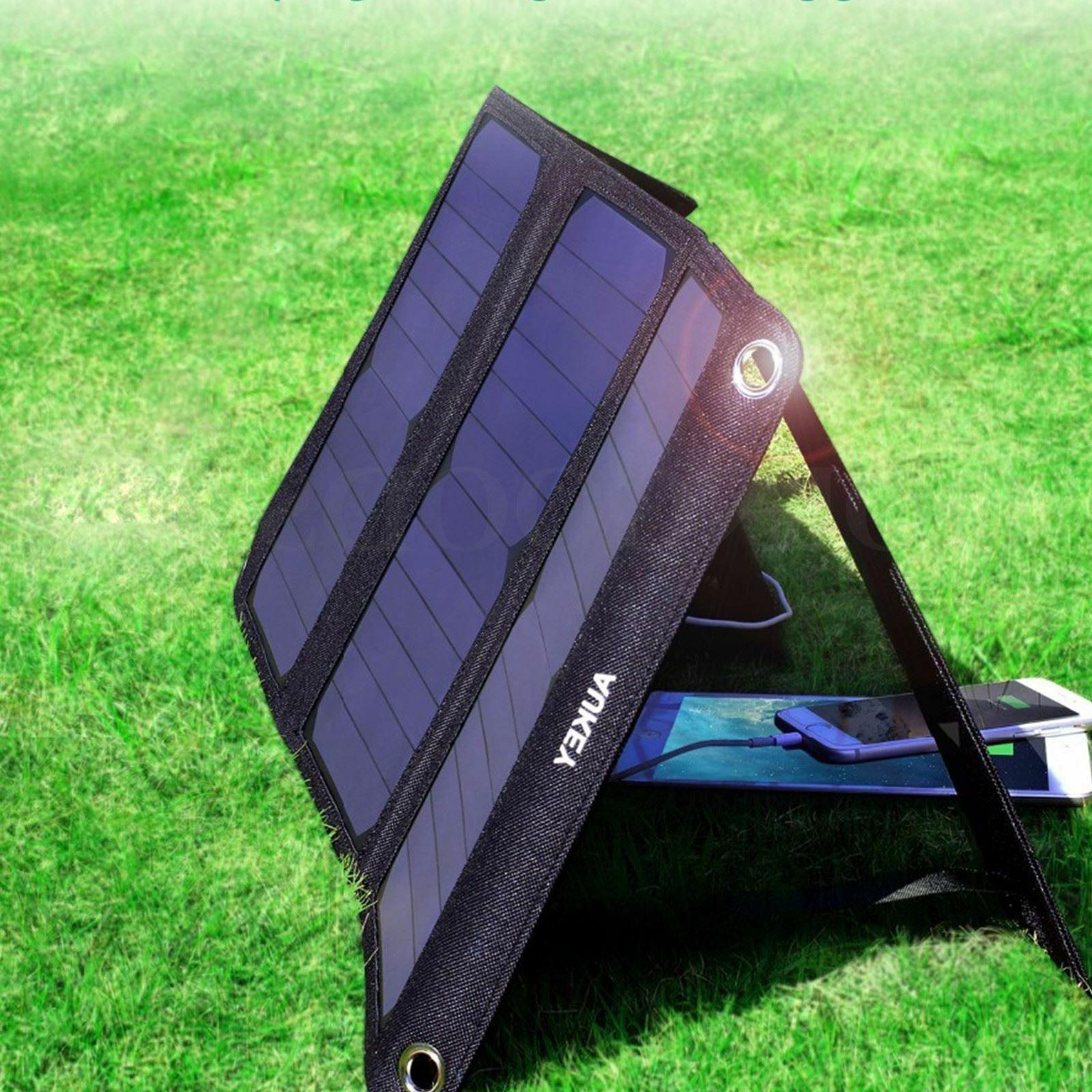 pb p4 portable solar charger 21w