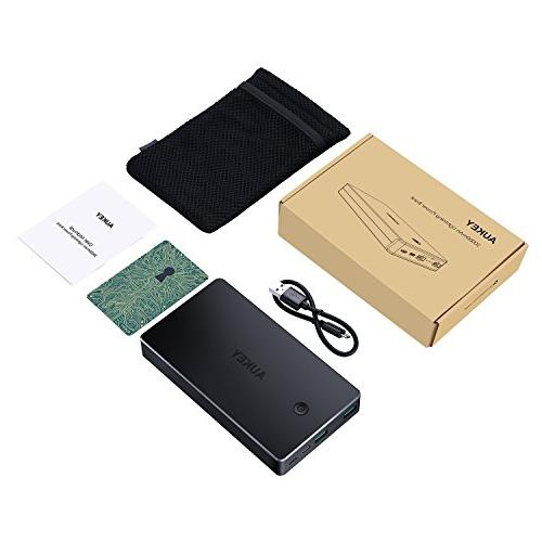 AUKEY 20000mAh Power Inputs, Battery Xs/XS Max / / Plus, Pro and More
